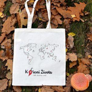 plátěná taška s potiskem Koření Života