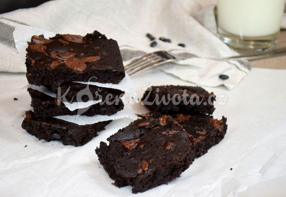 bezlepkové brownies z černých fazolí recept