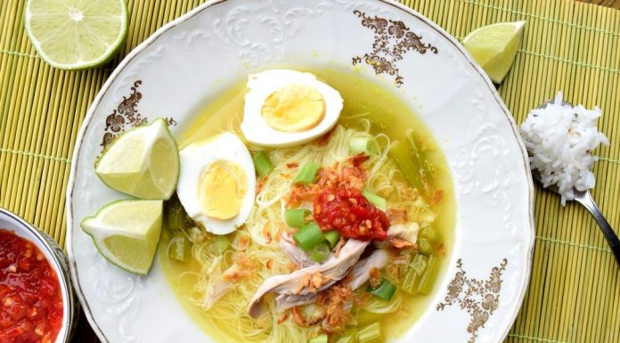 Recept indonéský kuřecí vývar Soto ayam