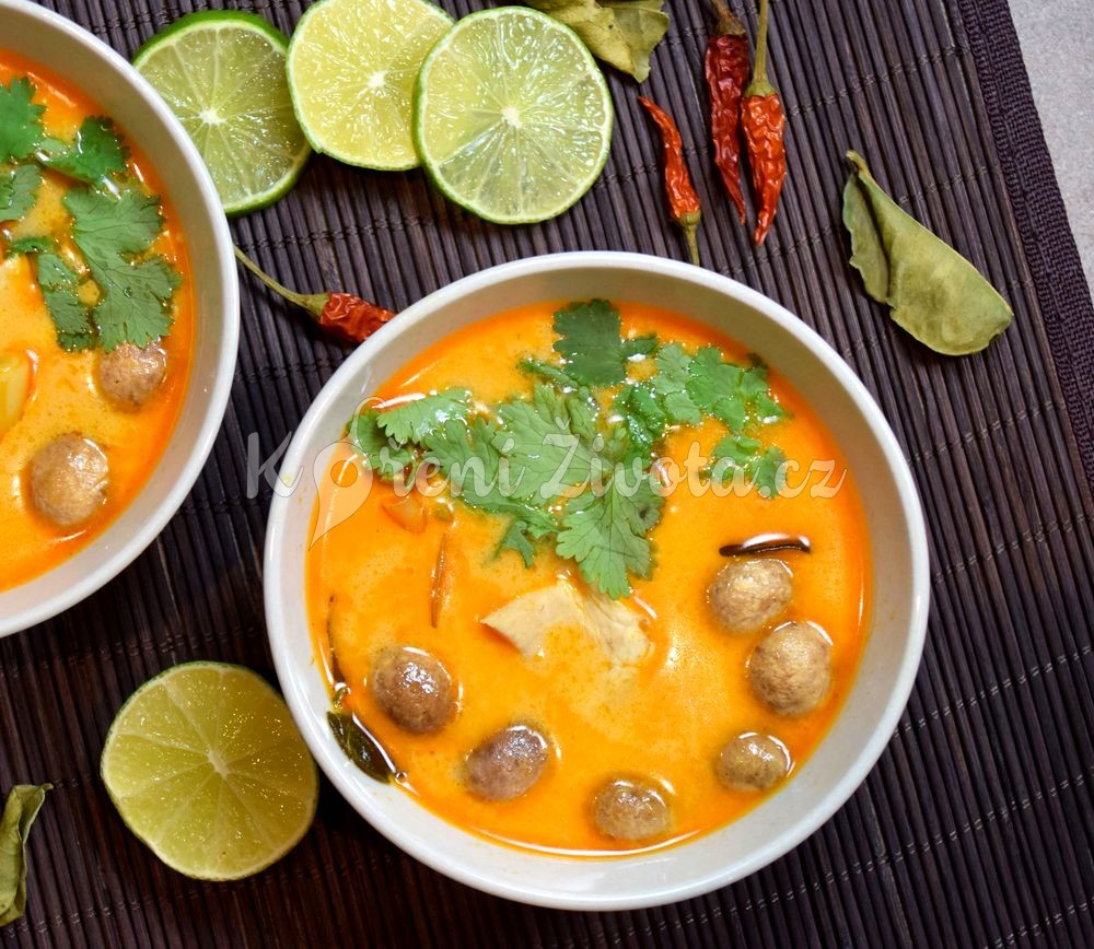 Thajská polévka Tom Kha Gai recept