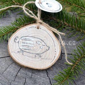 Ručně malovaná dřevěná ozdoba *PAN PRASEPÁN*