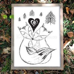 Autorský ilustrovaný plakát *MY DVA*, formát A3, bez rámu