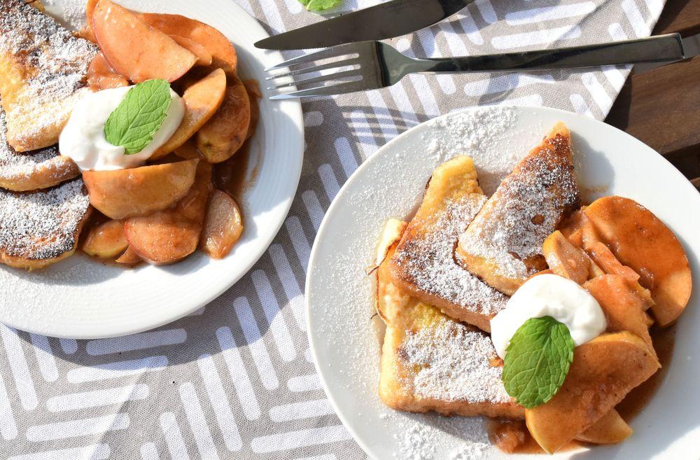 francouzské tousty s jablky recept