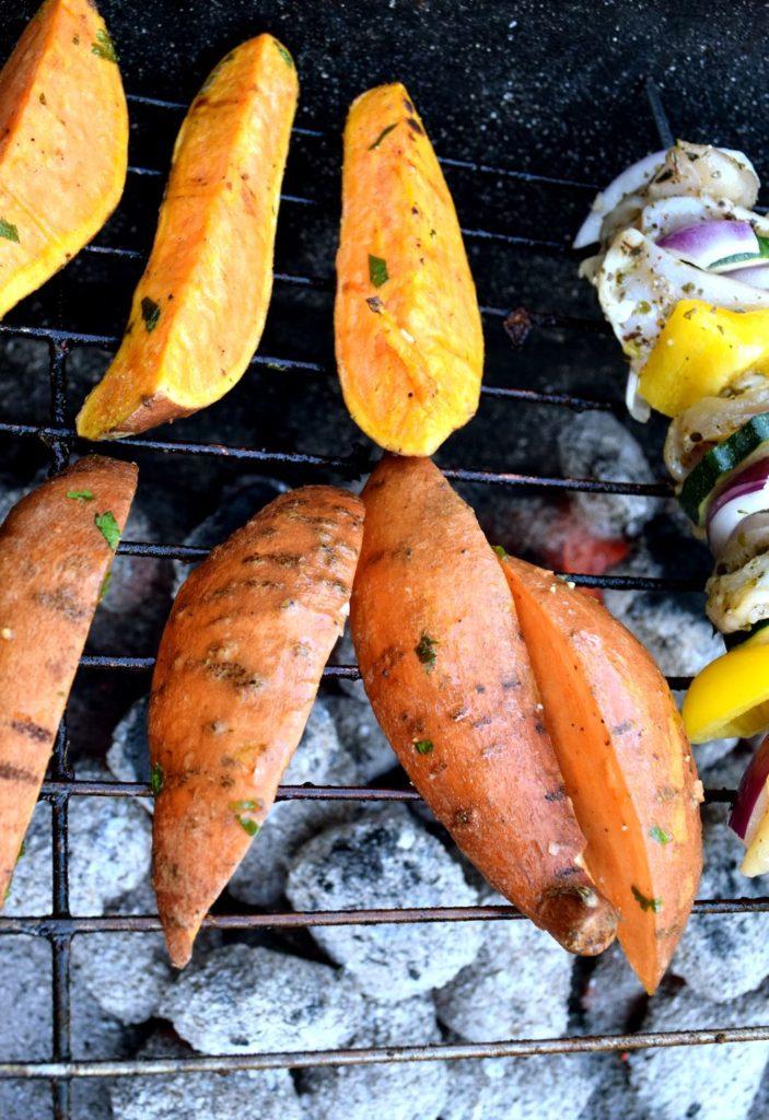 Grilované batáty s chilli a limetkou recept