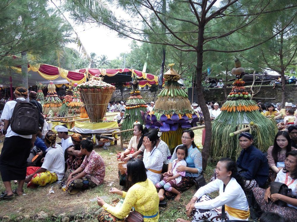 Hinduinstická ceremonie na Jávě