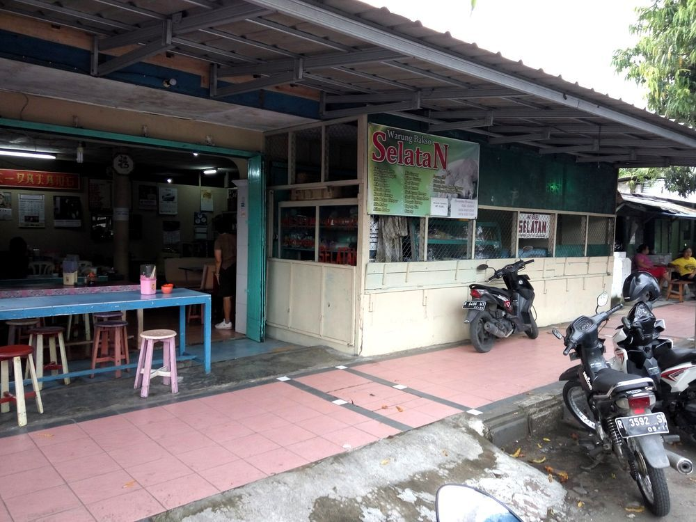 Tradiční warung - jídelna