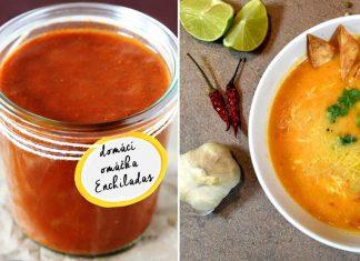 Červená Enchiladas omáčka.