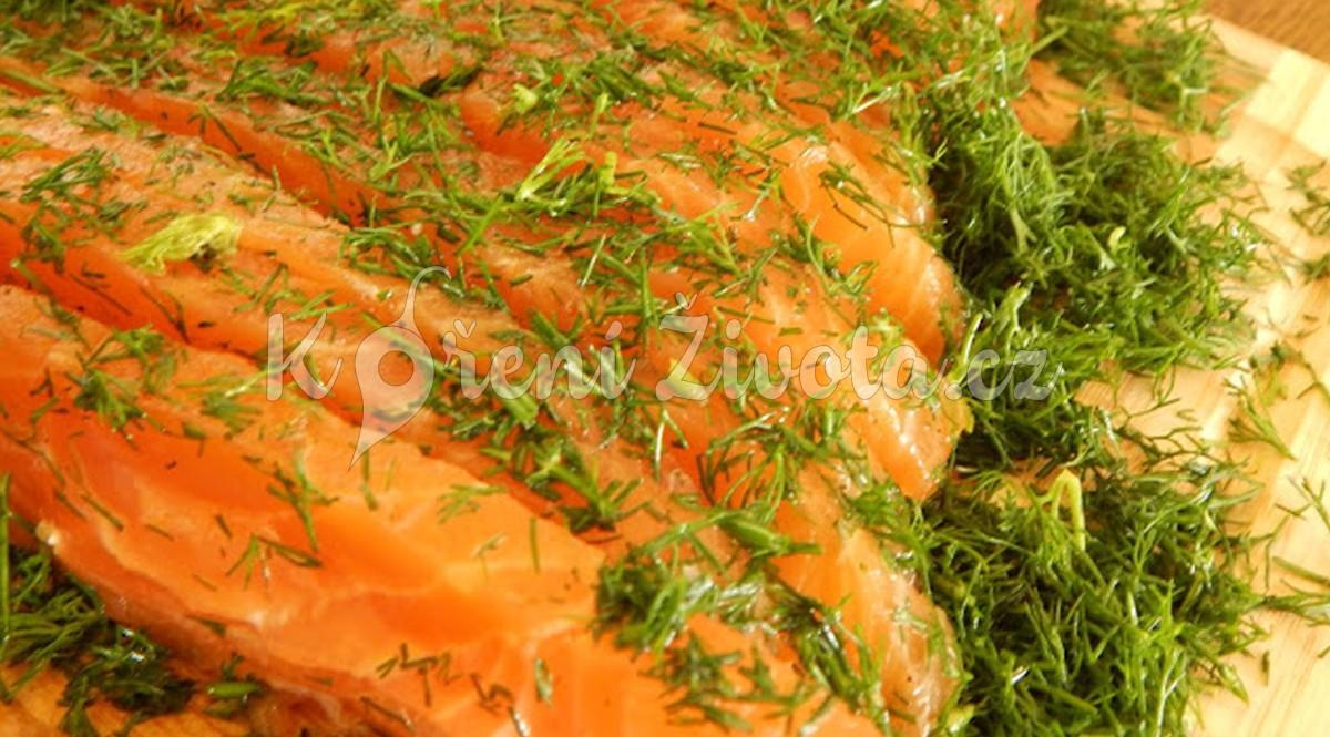 Marinovaný losos