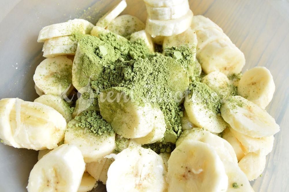 Banánová matcha zmrzlina