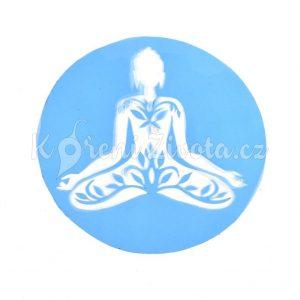 Šablona na zdobení dortu - sedící Buddha.