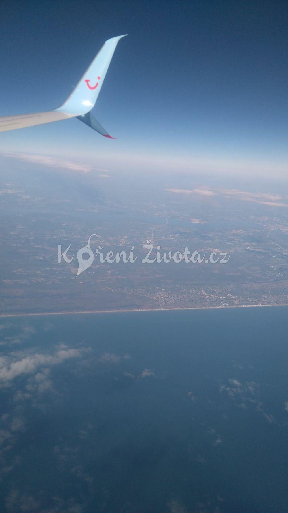 Pohled z letadla.