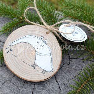 Ručně malovaná dřevěná ozdoba *PAN MRAVENEČNÍK*