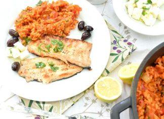 Vegetariánský balkánský džuveč recept a filety ze pstruha s bylinkovým olejem