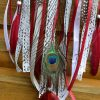 ~ENERGIE~ Ručně vyráběný krajkový lapač snů s howlitem, průměr 15 cm