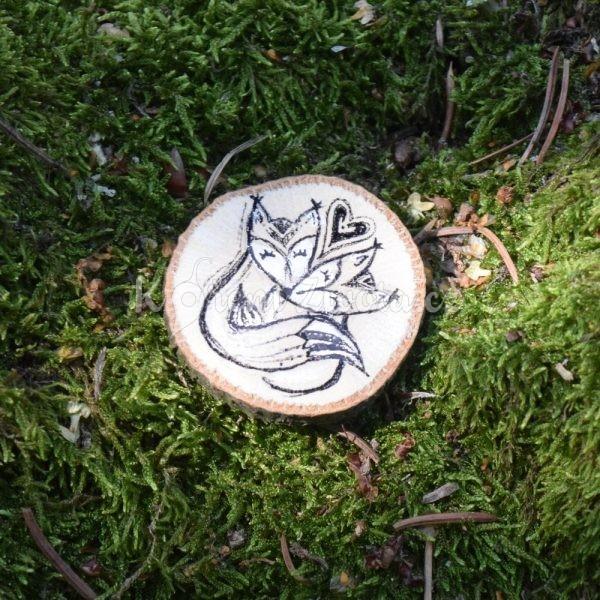 Ručně malovaná dřevěná brož *MY DVA*