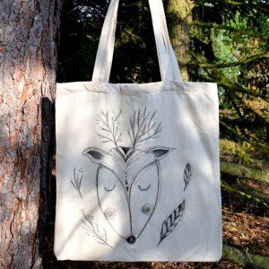 Ručně malovaná plátěná taška *JELÍNEK ARNOŠT*, 38x42 cm