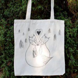 Ručně malovaná plátěná taška *MY DVA*, 38x42 cm