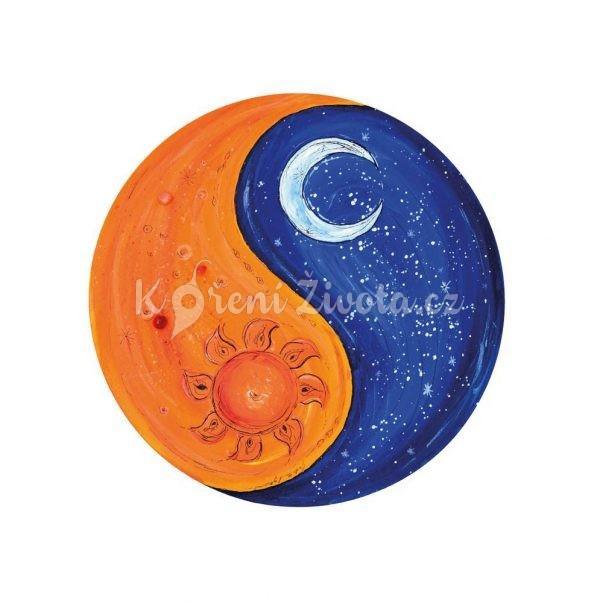 Vesmírný kulatý plakát *VŠICHNI JSME JEDNO*, autorská ilustrace, průměr 29 cm