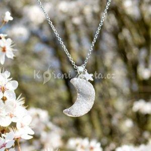 ~TRPĚLIVOST~ Jedinečný náhrdelník s drúzou achátu Měsíc