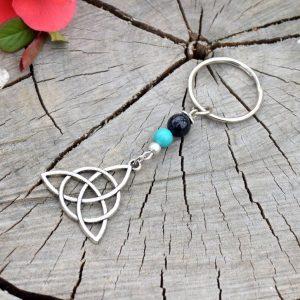 ~(VE)SMÍR~ Originální přívěsek na klíče keltský trojúhelník s avanturínem