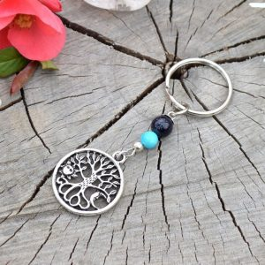 ~(VE)SMÍR~ Originální přívěsek na klíče Slunce a Měsíc s avanturínem a howlitem