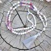 ~POROZUMĚNÍ~ Luxusní modlitební korále mála z howlitu a opálu, 108 korálků