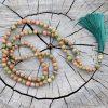 ~(POD)VĚDOMÍ~ Modlitební korále mála ze dřeva wenge a unakitu, 108 korálků