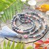 ~VNITŘNÍ JÁ~ Luxusní modlitební korále mála s drúzou, jaspis a opál, 108 korálků