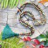 ~(POD)VĚDOMÍ~ Modlitební korále mála z unakitu a tygřího oka, 108 korálků