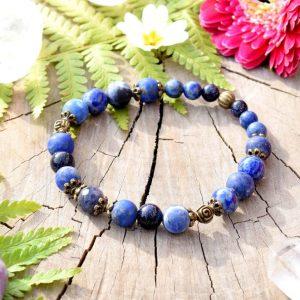 ~VĚŘÍM~ Charitativní kolekce ~ Minerální náramek ze sodalitu a lapisu lazuli