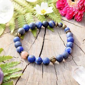 ~VĚŘÍM~ Charitativní kolekce ~ Pánský minerální náramek z lapisu lazuli