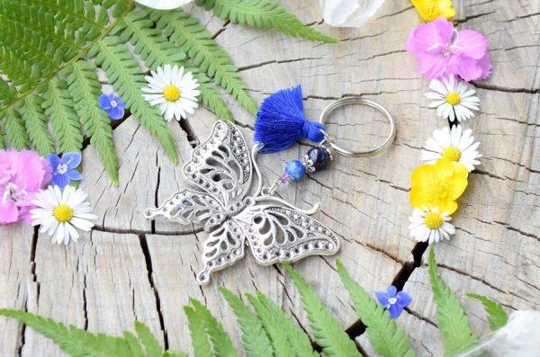 ~MAGIE~ Originální přívěsek na motýl s lapisem lazuli a avanturínem